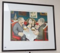 Beryl Cook, limited edition print, Russian tea room, signed 13/200 48 x 61cm