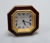 A Cartier travelling clock H.8cm