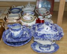 A collection of Spode Italian and mixed ceramics and a book on blue and white ceramics