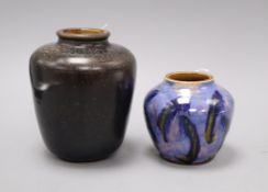 An unusual Royal Doulton 'oil spot' glazed jar, c.1930 after a Chinese model and a Royal Doulton
