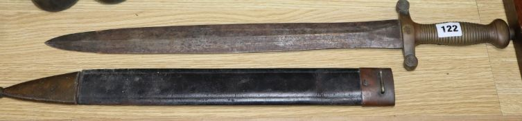 A 19th century Continental sword L.66cm