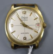 A gentleman's steel and gold plated Condor automatic wristwatch, with date aperture, strapless.