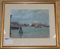 John Doyle, watercolour, View of Venice, 20 x 26cm