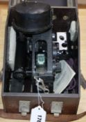 An early 20th century bubble sextant, in bakelite case