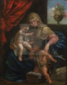 17th century Flemish Schooloil on copperVirgin and child with John The Baptist9.75 x 7.5in.