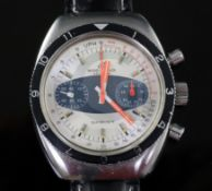 A gentleman's late 1960's/early 1970's stainless steel Breitling Sprint chronograph wrist watch,