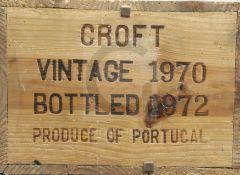 An unopened cased of twelve bottles of Croft 1970 Vintage Port (O.W.C.)
