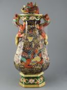 A large and impressive Masons Ironstone two handled pot pourri vase and cover, c.1815-25, of