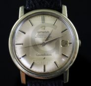 A gentleman's 1960's steel and gold plated Omega Constellation chronometer automatic wrist watch,
