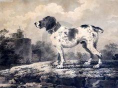 Attributed to Pietro Palmieri (1737-1804)monochrome watercolourHound in a landscape7.25 x 9.75in.