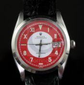 A gentleman's 1950's stainless steel Rolex Oysterdate Precision manual wind wrist watch, with