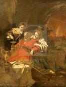 18th century Flemish Schooloil on canvasBiblical scene16.5 x 13.75in.