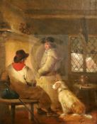 Attributed to George Morland (1764-1804)oil on canvasTravellers before the hearth11 x 9in.