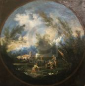 Follower of Alessandro Magnasco (1667-1749)pair of oils on canvasFigures in stormy landscapespainted