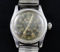 A gentleman's 1940's stainless steel mid-size Rolex Oyster Lipton manual wind wrist watch, made