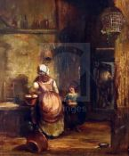 William Collins (1788-1847)oil on wooden panelScullery interiorsigned12.45 x 10.5in.