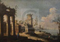 Follower of Michele Marieschi (1710-1743)oil on canvasCapriccio landscape with a Venetian port20 x