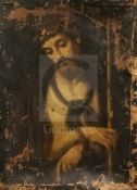 Continental School (18th/19th century)oil on canvasChrist wearing the crown of thorns25.5 x 18in.,