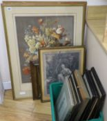 A group of assorted paintings and prints