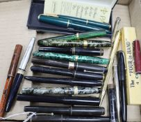 A group of fountain pens and propelling pencils