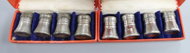 Two sets of Georg Jensen salts/pepper shakers