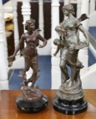 Two early 20th century spelter figures
