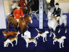 A Beswick set of hunting figures