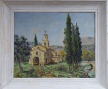 Marquy, oil on canvas, 'Chapelle St Jean, Provence', signed 44 x 54cm