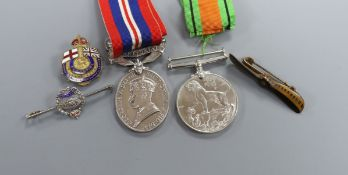 A collection of medals and badges