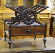A Regency rosewood cross framed canterbury