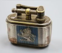 A Dunhill Joseph Lucas table lighter, with lion rampant