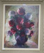 E. Van Weinmann (1899-1966) oil on canvas, Still life of flowers, signed 80 x 63cm