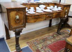 A George IV mahogany sideboard W.198cm