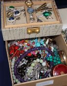 Assorted costume jewellery, including facet cut amethyst necklace etc.