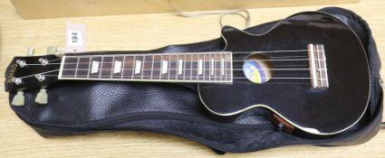 An electro Mahalo ukulele