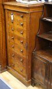 A Victorian pollard oak Wellington chest H.120cm