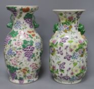 A pair of Chinese style decorative vases H.36cm