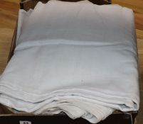 Seven coarse French provincial linen sheets