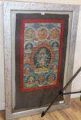 A Tibetan thangka H.99cm, W.55cm
