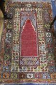 A Caucasian lilac prayer rug 180 x 115cm