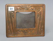 A Tiffany bronze easel frame 18 x 22cm