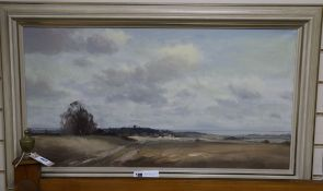 Marcus Ford (1918-1995) oil on canvas, 'Friston, East Sussex' signed 44 x 82cm