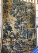 A 17th/18th century Flemish or Dutch verdure tapestry hanging