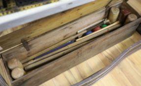 A croquet set
