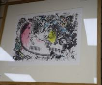 Marc Chagall (1887-1985) - lithograph, Reverie, 1969, Goldmark Gallery label verso 34 x 45cm