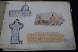 Hand drawn history of architecture folio