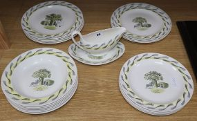 Eric Ravilious for Wedgwood: a 20 piece 'Garden' part dinner service
