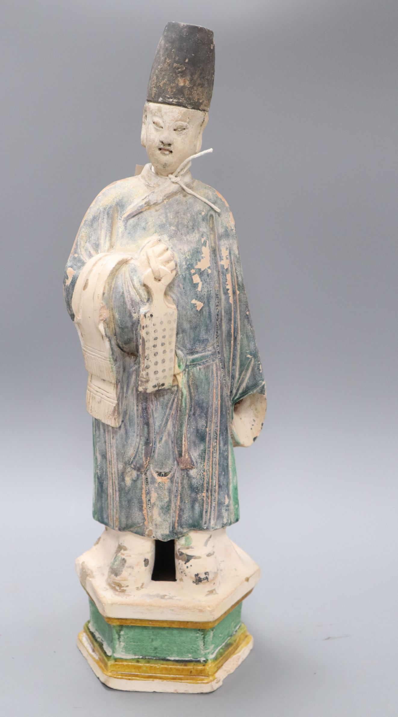 Lot 1032 - A Chinese Tang-style glazed pottery figure H.46cm