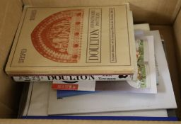 A quantity of reference books relating to Doulton and Doulton Lambeth
