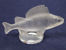 Perch / Poisson, Perche - A glass car mascot by Rene Lalique, introduced 1929 No. 1158, height